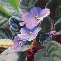 "thumbnail image of painting ""African Violets"""