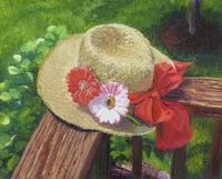 "thumbnail of painting ""Hat With Flowers"""