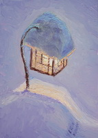"thumbnail image of painting ""Lamplight on a Snowy Evening"""