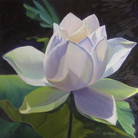 "thumbnail image of painting ""Waterlily - All the Colors of White"""
