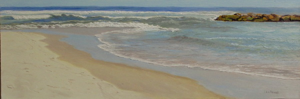 "image of painting ""High Tide, Spring Lake"""